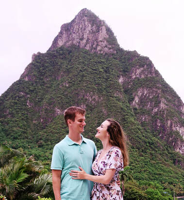 hiking st lucia pitons